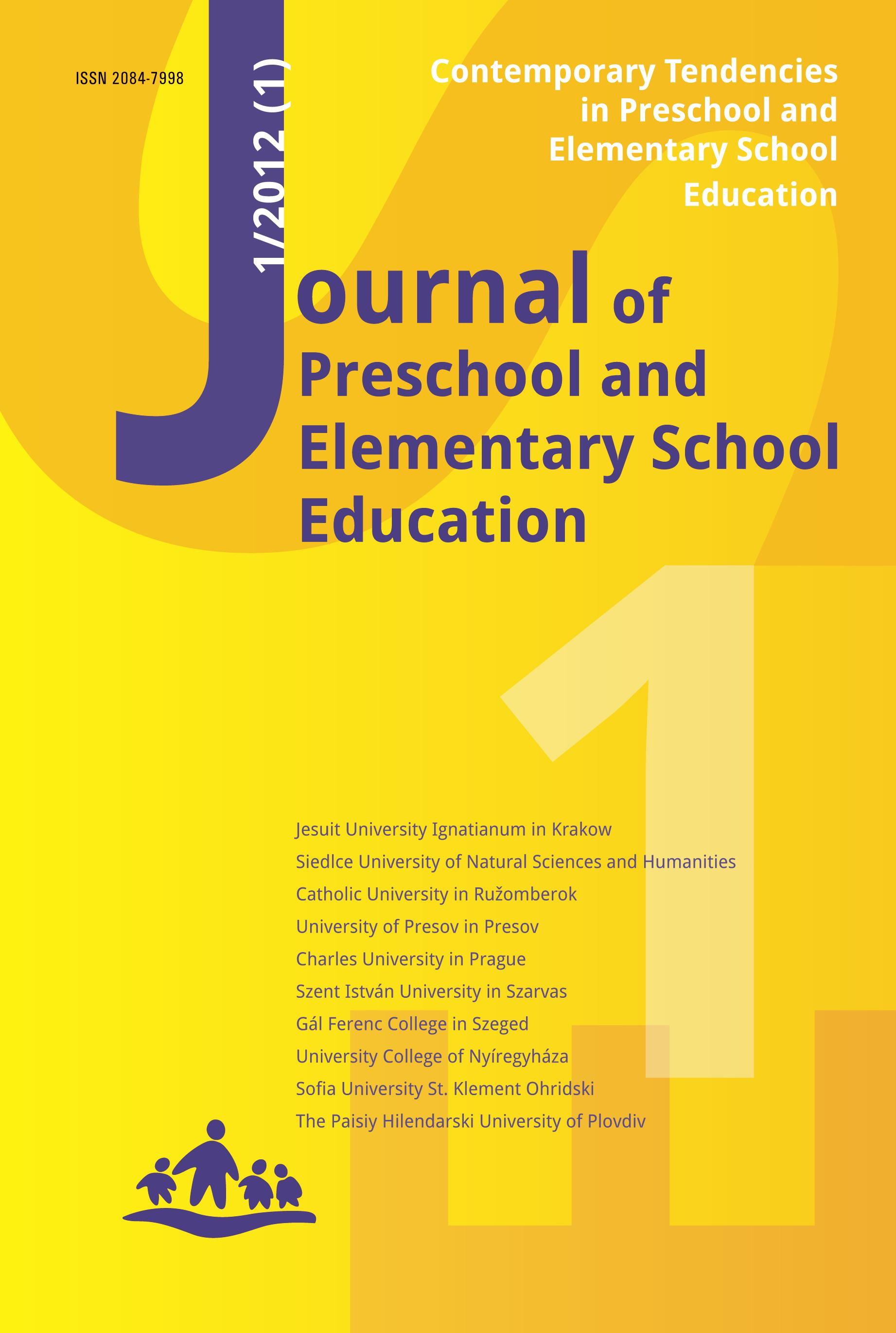 Journal of preschool and elementary school education a study of student reactions and attitudes to non traditional pedagogy in very early language learning publicscrutiny Gallery